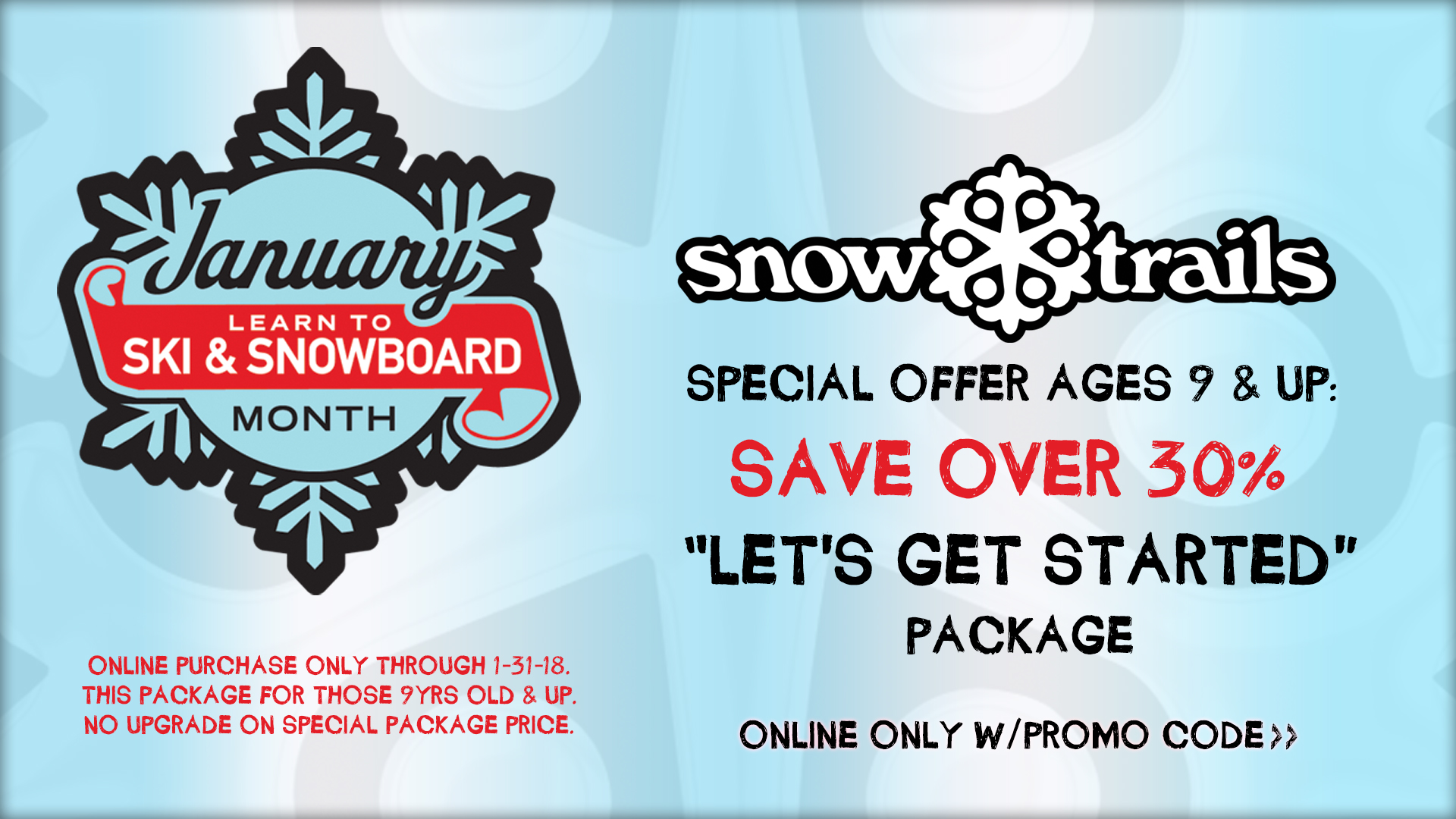 Learn to Ski and Snowboard Month Special Offer at Snow Trails in Mansfield, Ohio