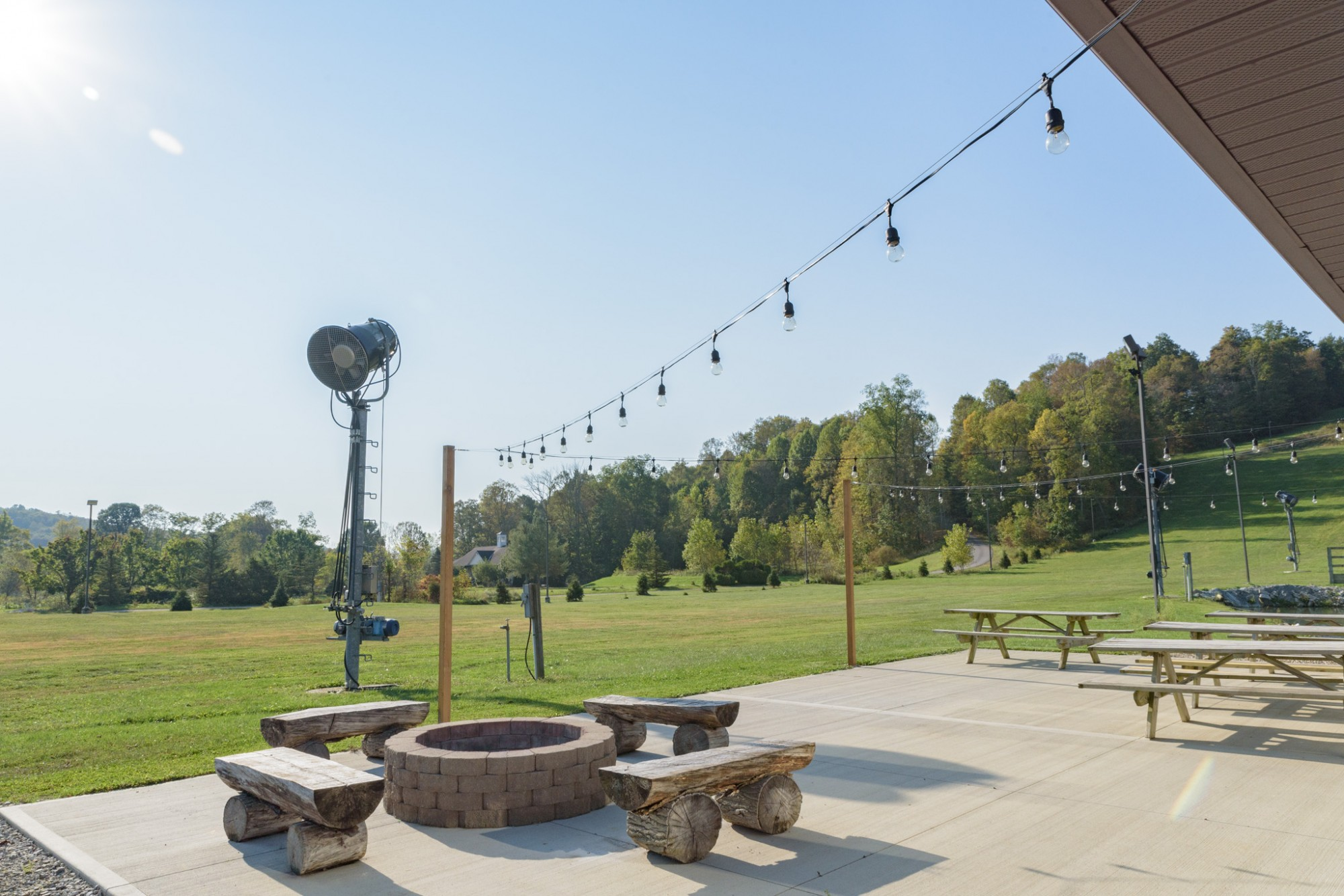 Tubing Park Patio Light Addition at Snow Trails in Mansfield, Ohio