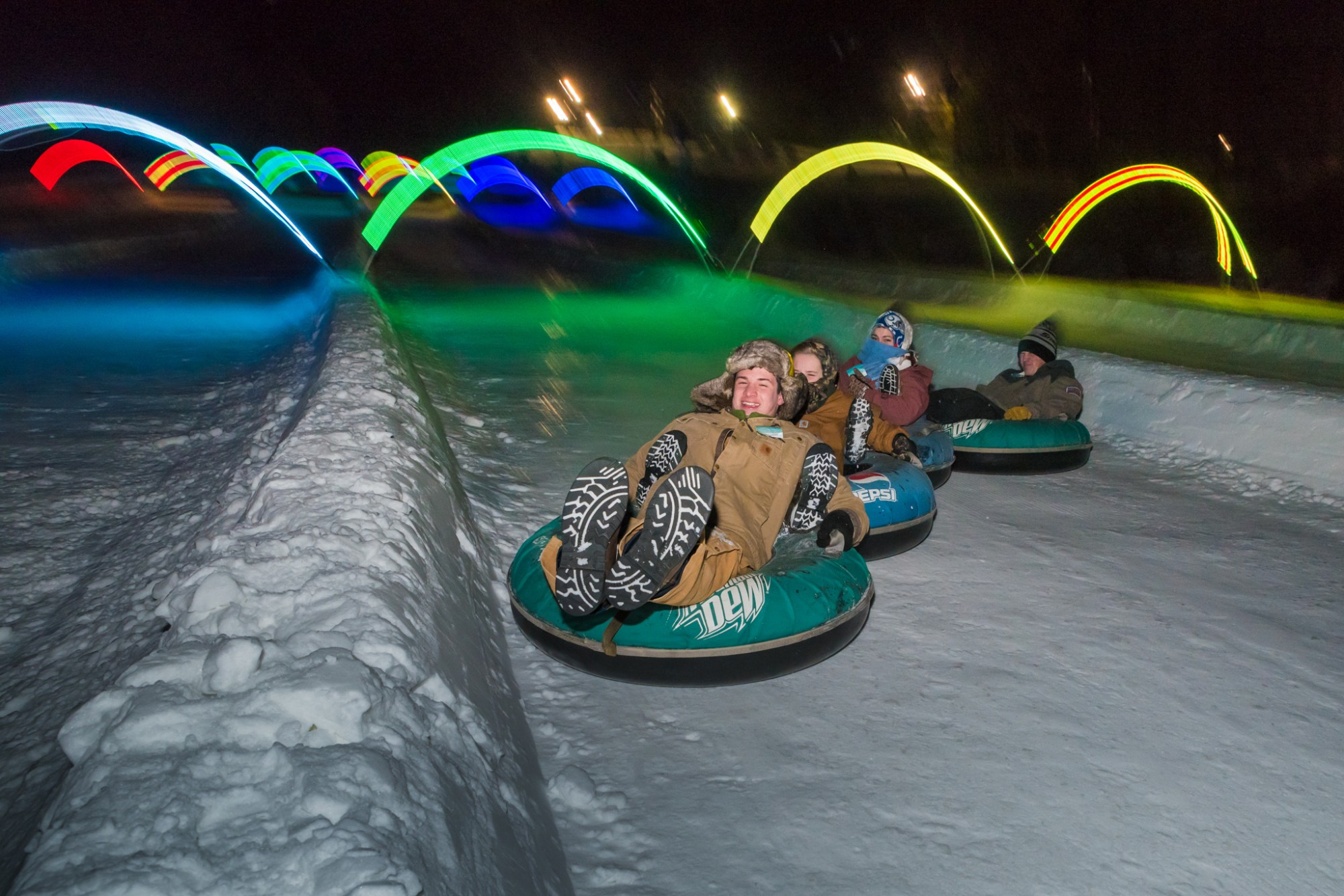 Glow Tubing at Snow Trails in Mansfield, Ohio