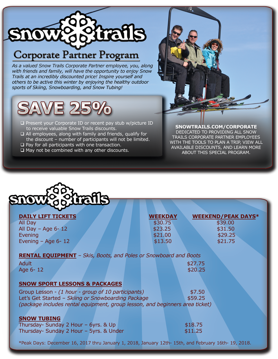 Snow Trails Corporate Partner Program