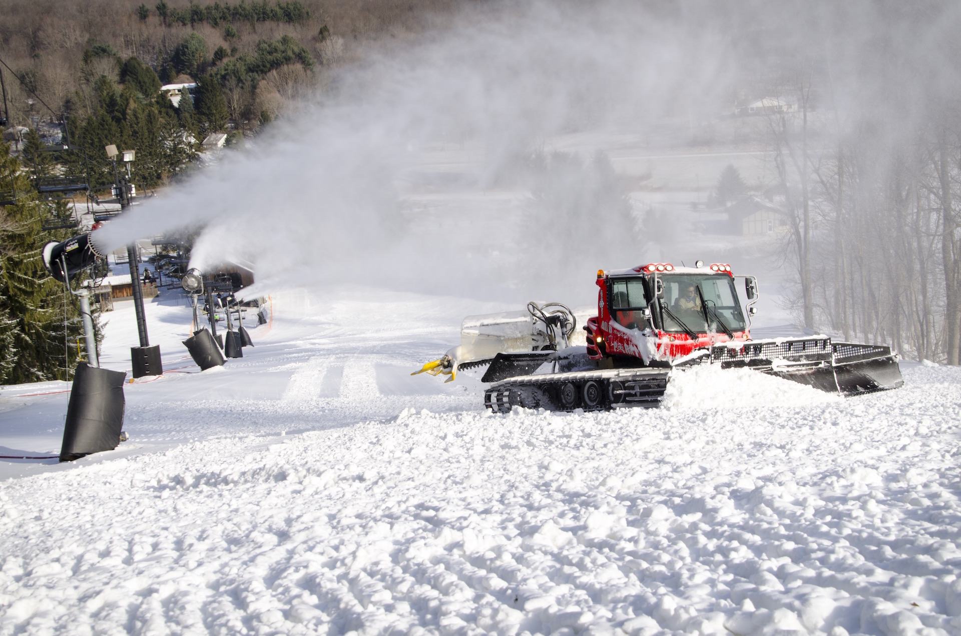 One of Snow Trails Pisten Bully Snow Cat Groomer Fleet