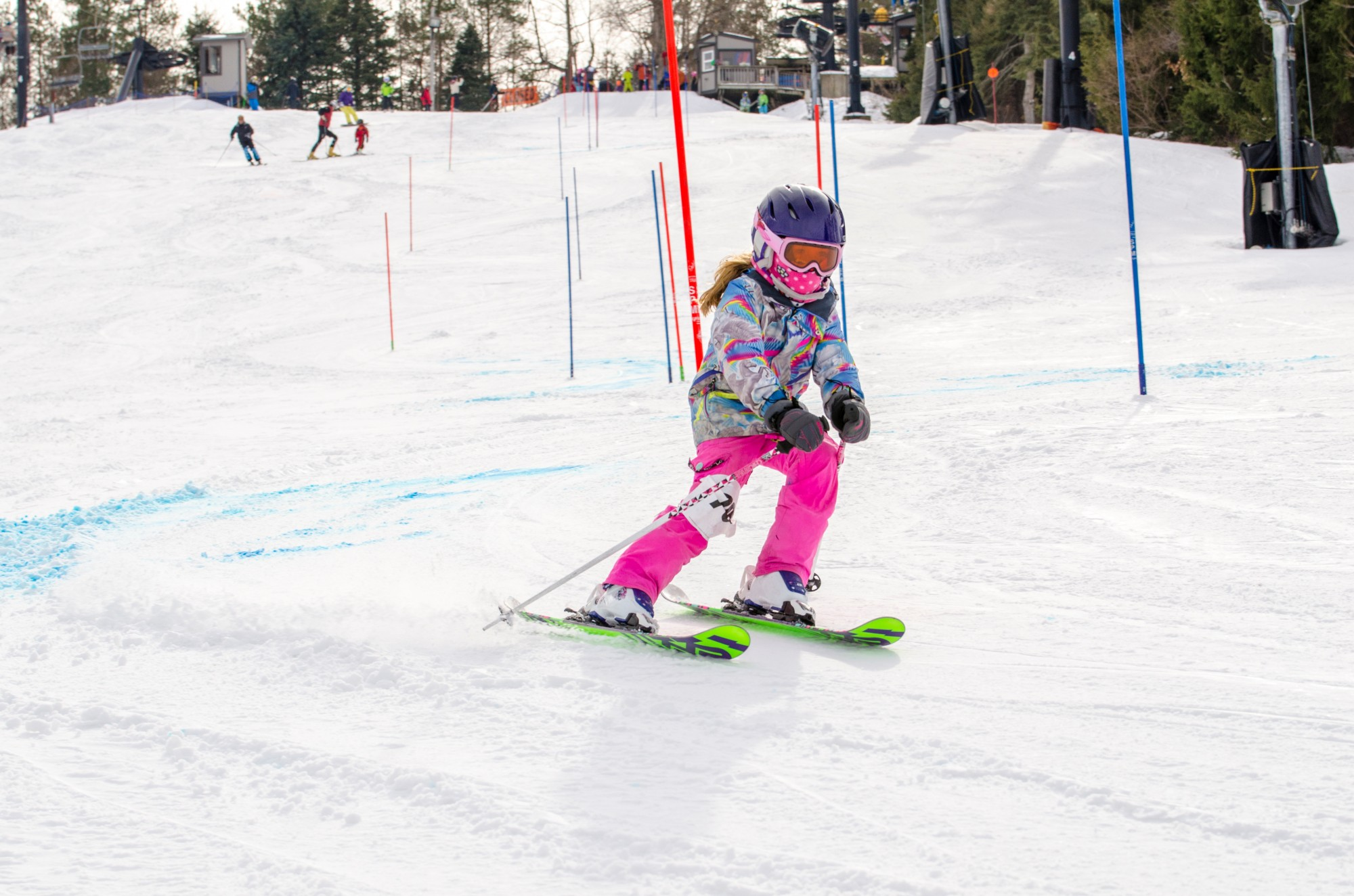 Possum Run Ski Team Racer On Course