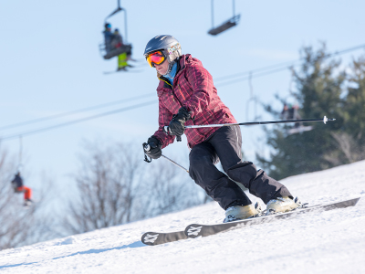 Skiing Mt. Mansfield Slope at Snow Trails in Mansfield, Ohio