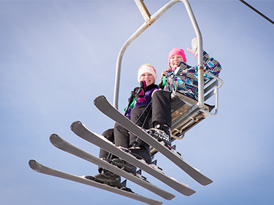 Riding Snow Trails Beginners Area Double Chairlift in Mansfield, Ohio