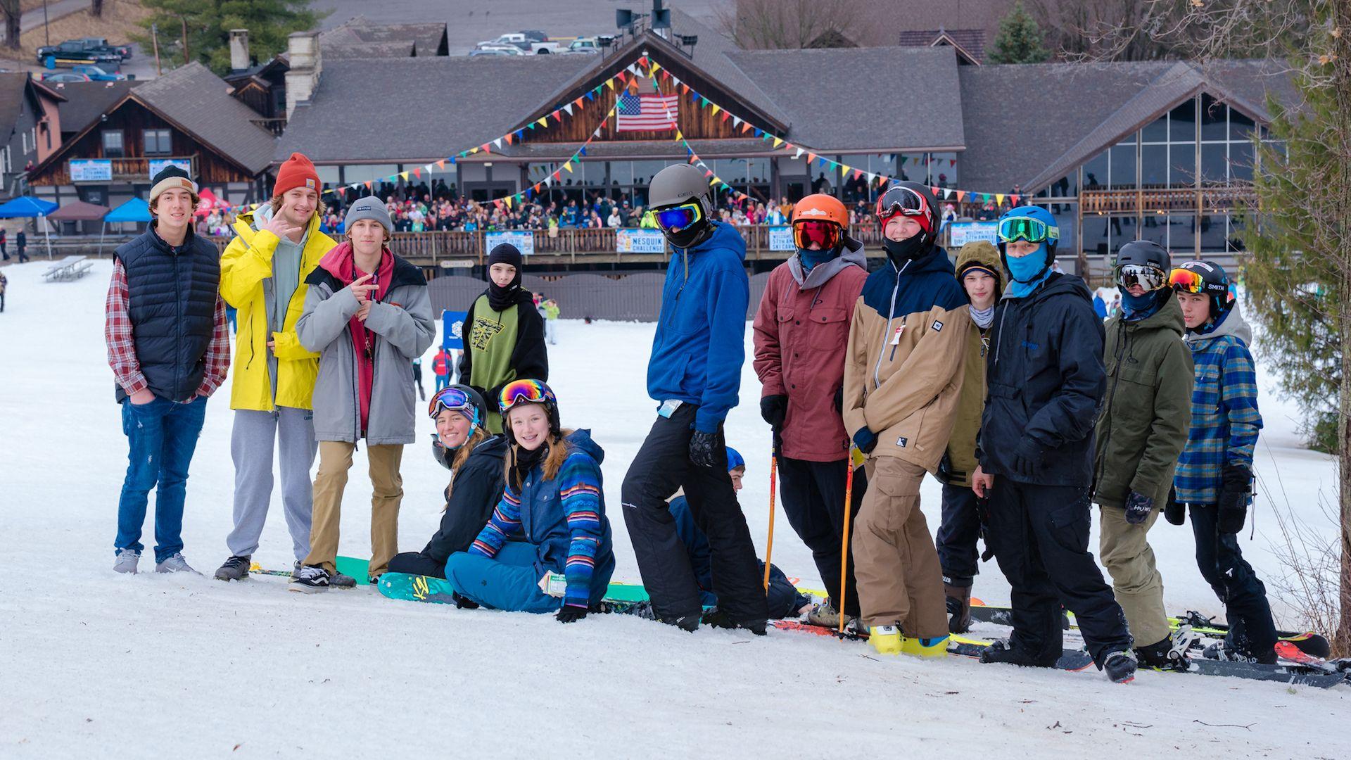 go skiing -