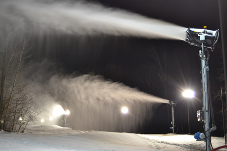 New Snow Guns are making great progress on Timberline Trail at Snow Trails