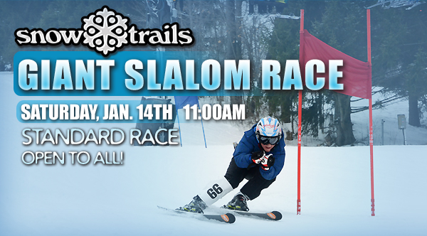 Giant Slalom Race at Snow Trails Open to All!