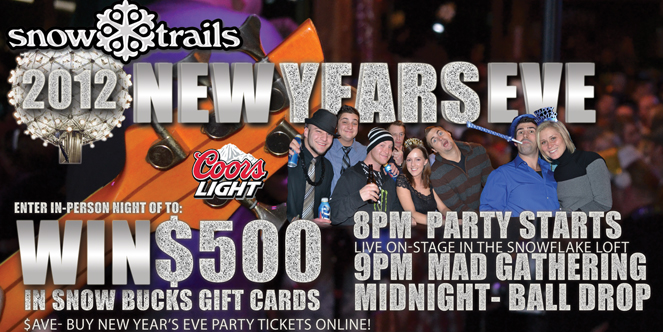 New Year's Eve Party at Snow Trails