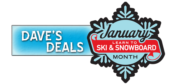 Snow Trails Dave's Deals: Learn To Ski and Snowboard Month