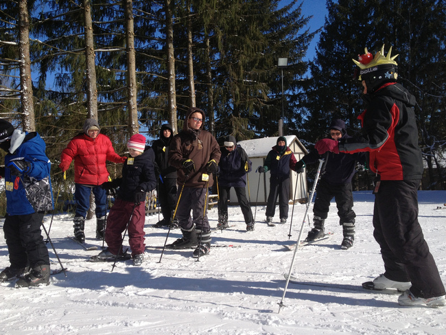 Group Ski Lesson with friendly Snow Sports Instructor at Snow Trails