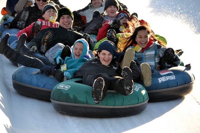 Vertical Descent Tubing Park at Snow Trails, perfect for your large group