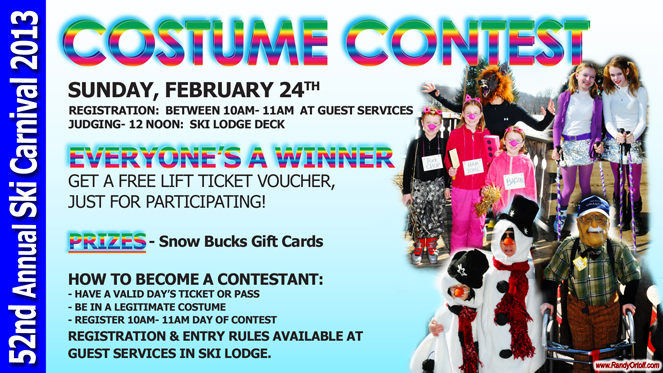 52nd Annual Ski Carnival at Snow Trails Costume Contest Sunday, February 24th