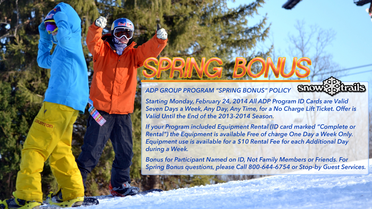 "Group Program ""SPRING BONUS"""