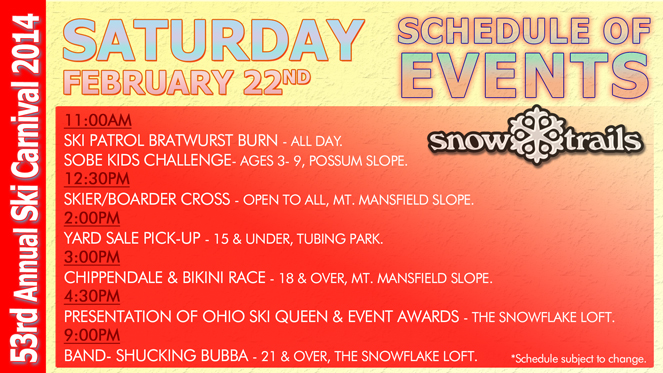 53rd Annual Winter Ski Carnival at Snow Trails- Saturday Schedule of Events