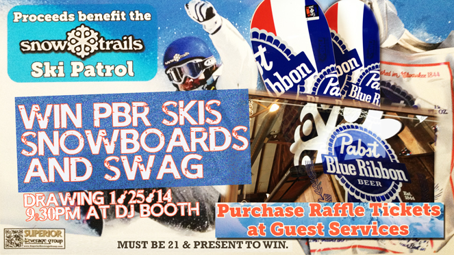 Raffling PBR Skis and Snowboards to Benefit Snow Trails Ski Patrol
