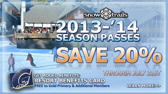 Save 20% on Select Snow Trails Season Passes