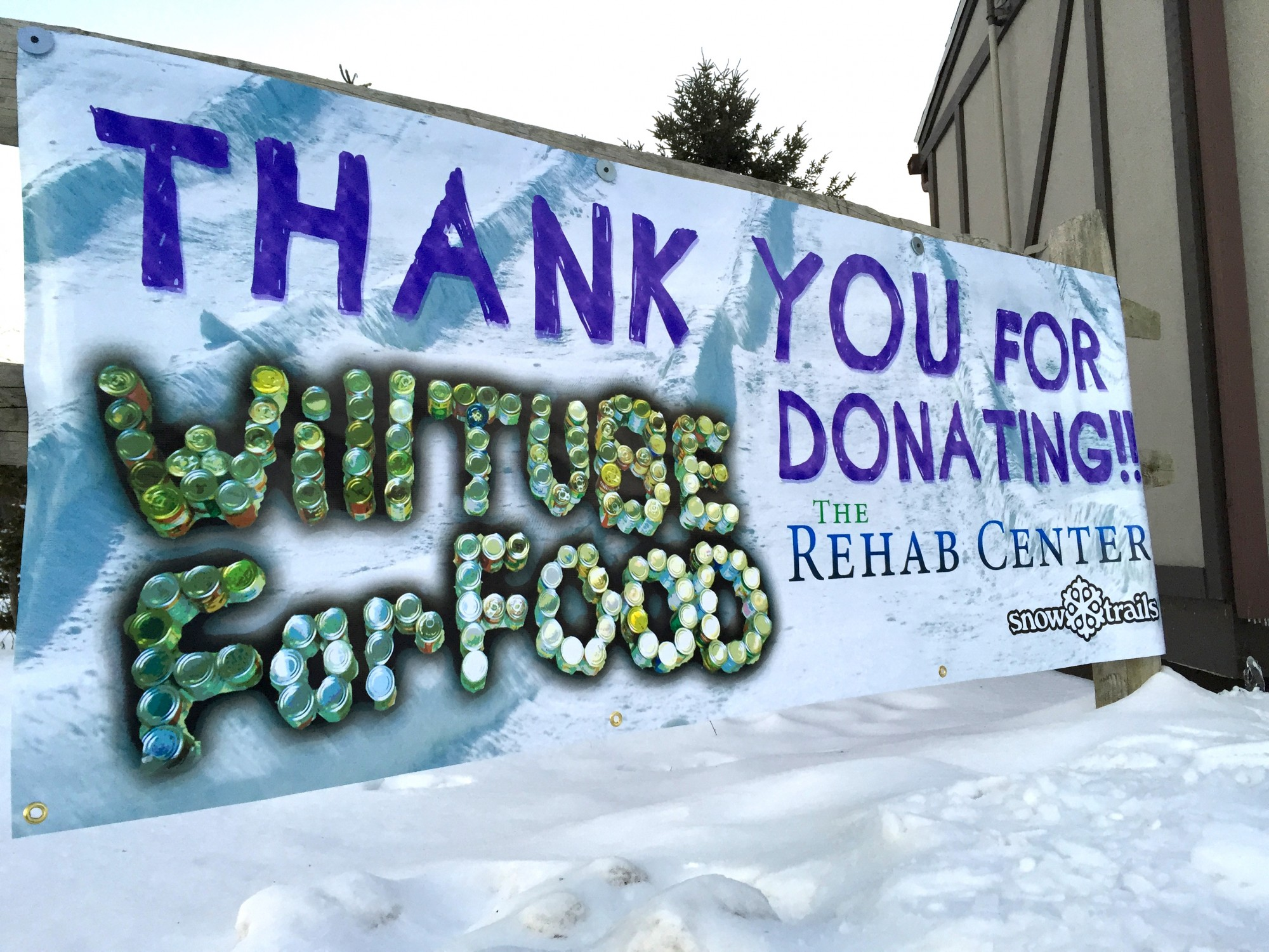 Will Tube For Food- Thank You for Donating!! The Rehab Center and Snow Trails