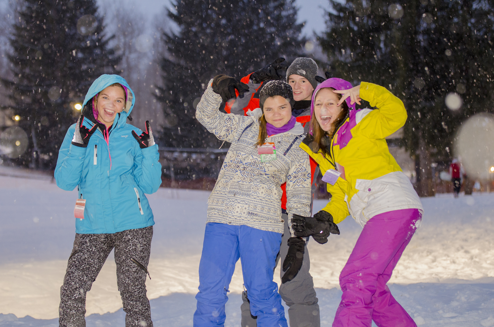Fun with Friends at Snow Trails Winter Resort