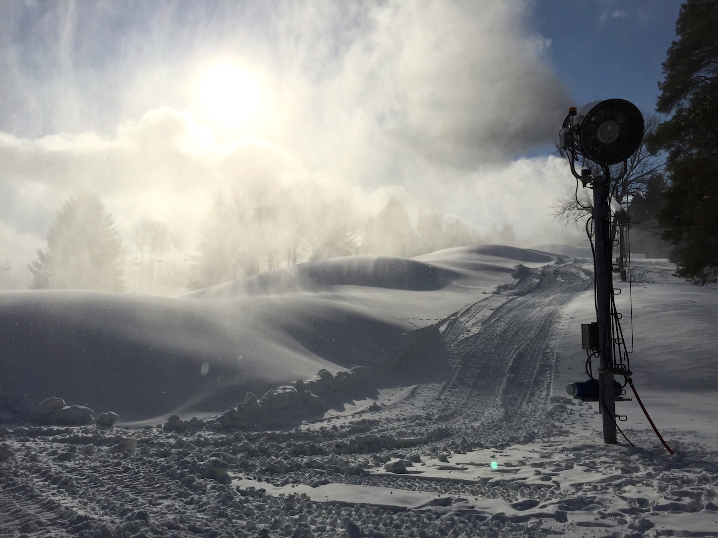 Early Season Snowmaking in November at Snow Trails