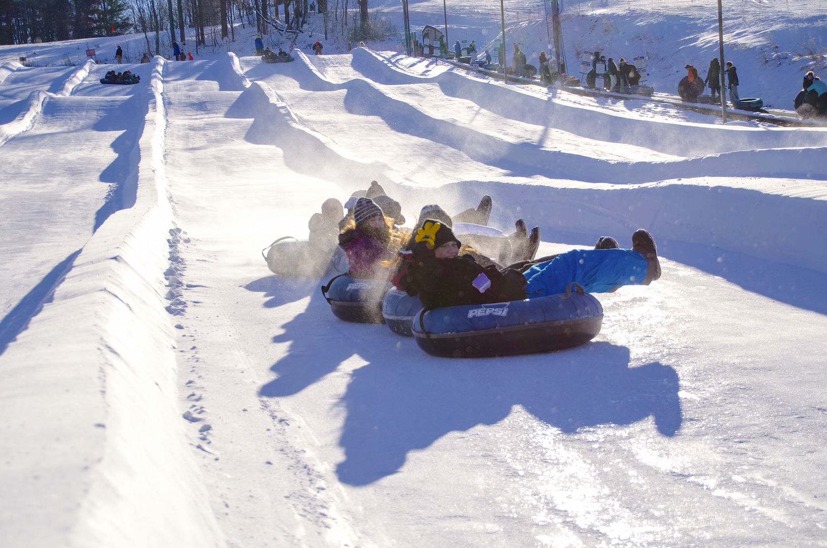 Snow Tubing at Snow Trails in Mansfield, Ohio