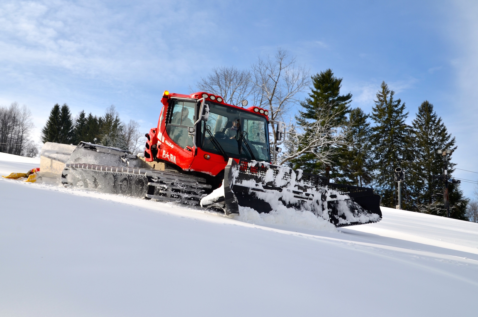 Snow Trails Pisten Bully Snow Cat Grooming Mt. Mansfield Slope