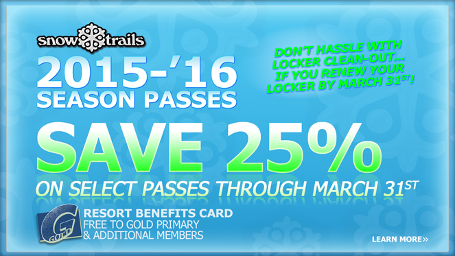 Save on Snow Trails Season Passes