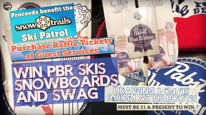 Win PBR Skis, Snowboards, and Swag at Snow Trails Mid-Season Party