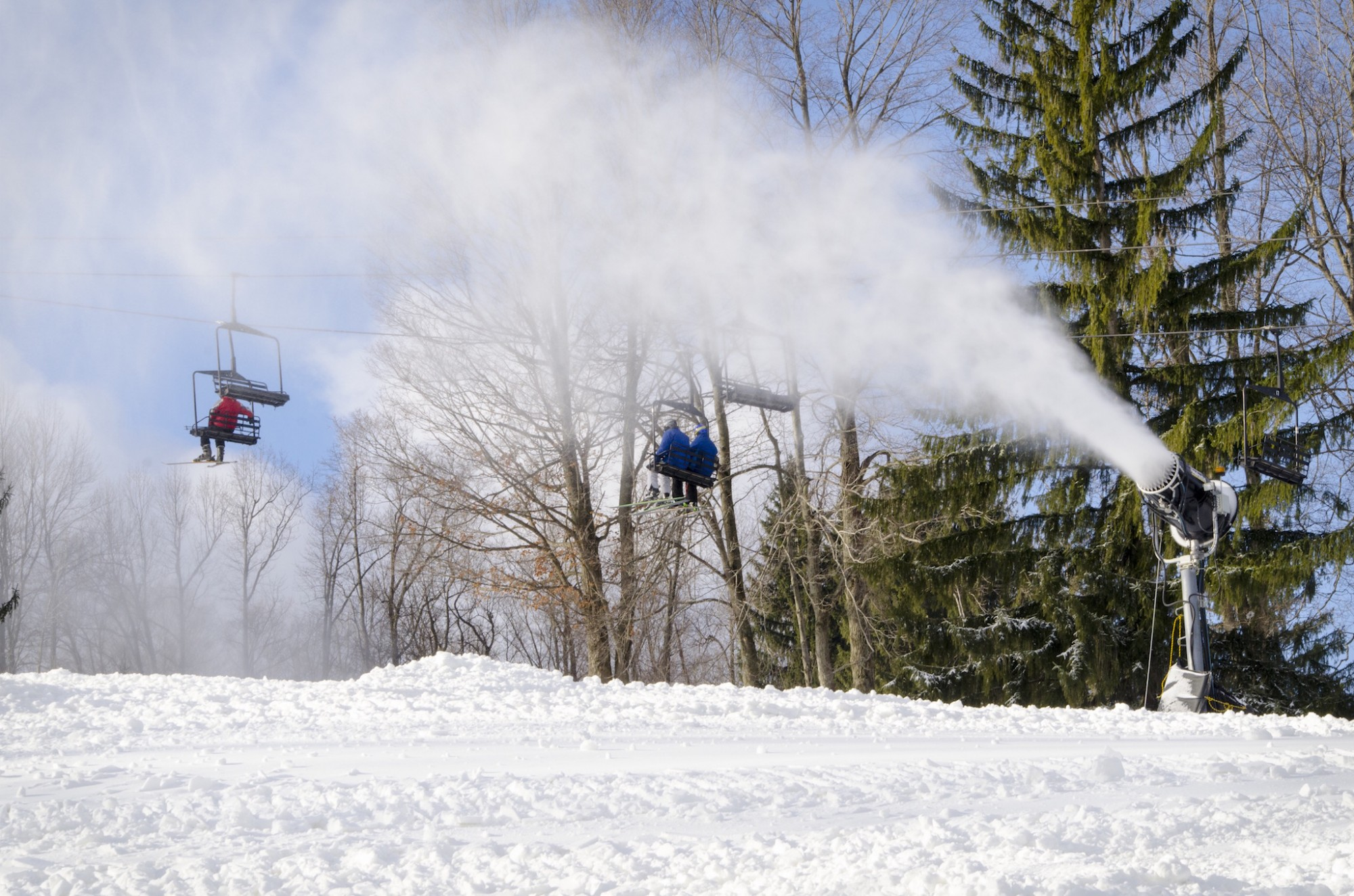 Snowmaking will continue, even after Opening Day at Snow Trails