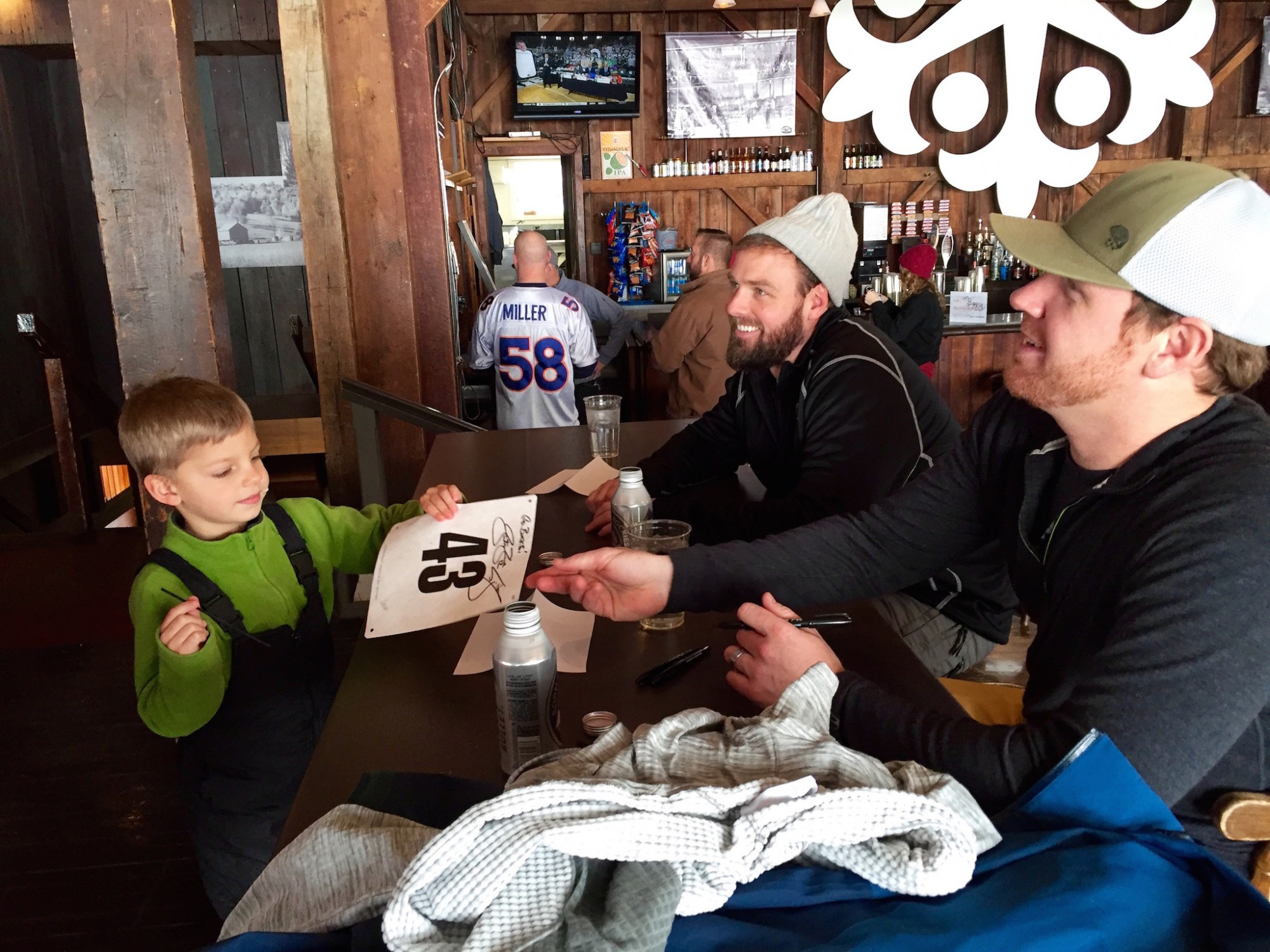Justin Zwick and Craig Krenzel at Snow Trails supporting White-Out Cancer with Buckeye Cruise for Cancer