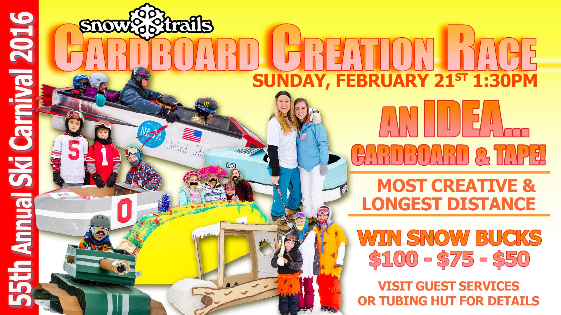 Cardboard Creation Race - Snow Trails 55th Carnival 2016