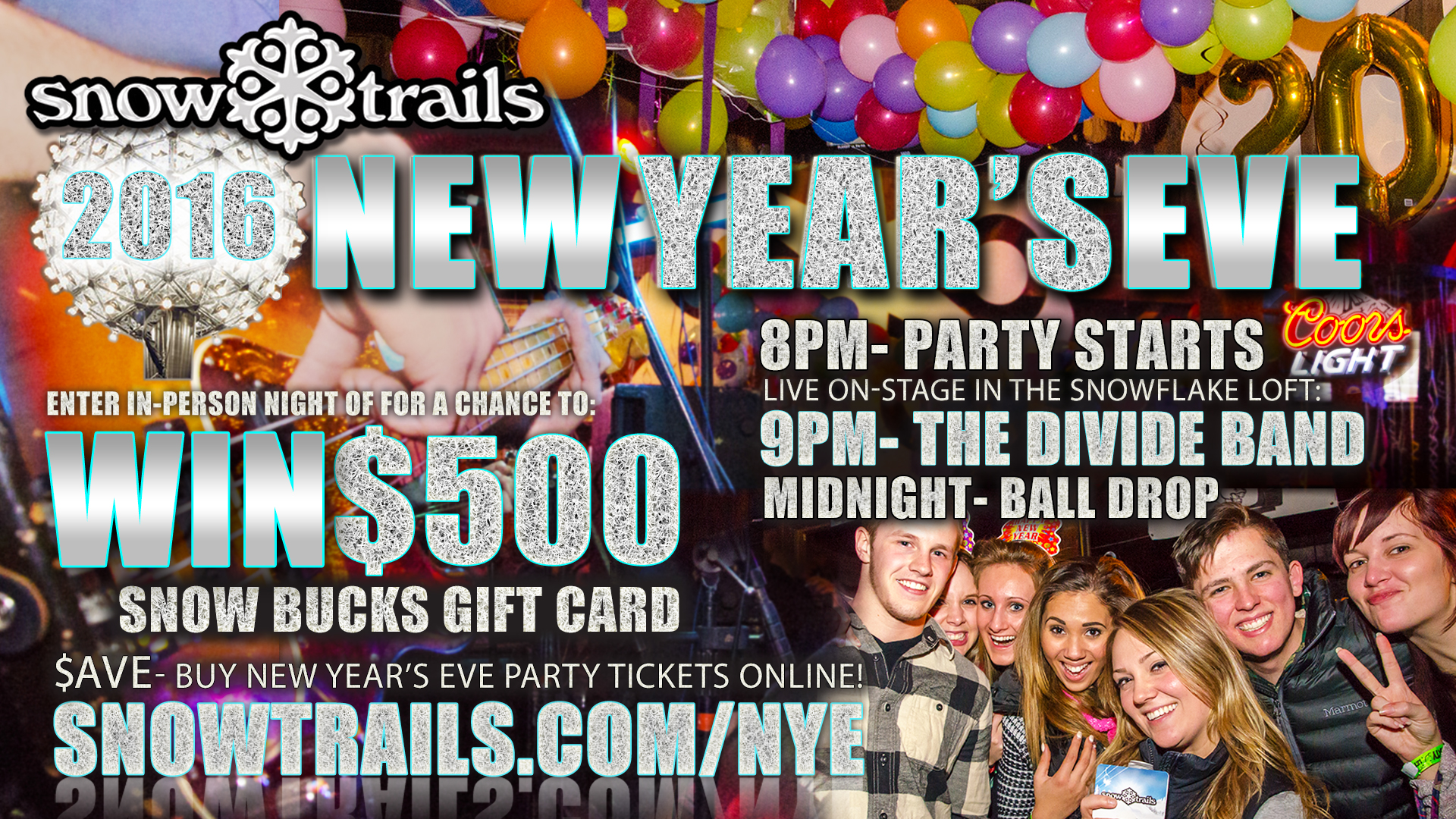 Coors Light New Year's Eve Party at Snow Trails
