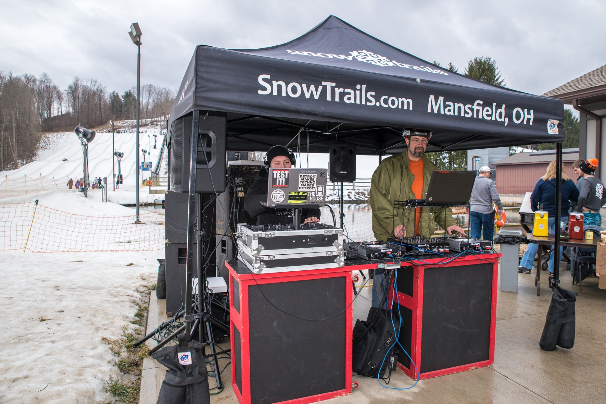 Outdoor DJ at Snow Trails Vertical Descent Tubing Park