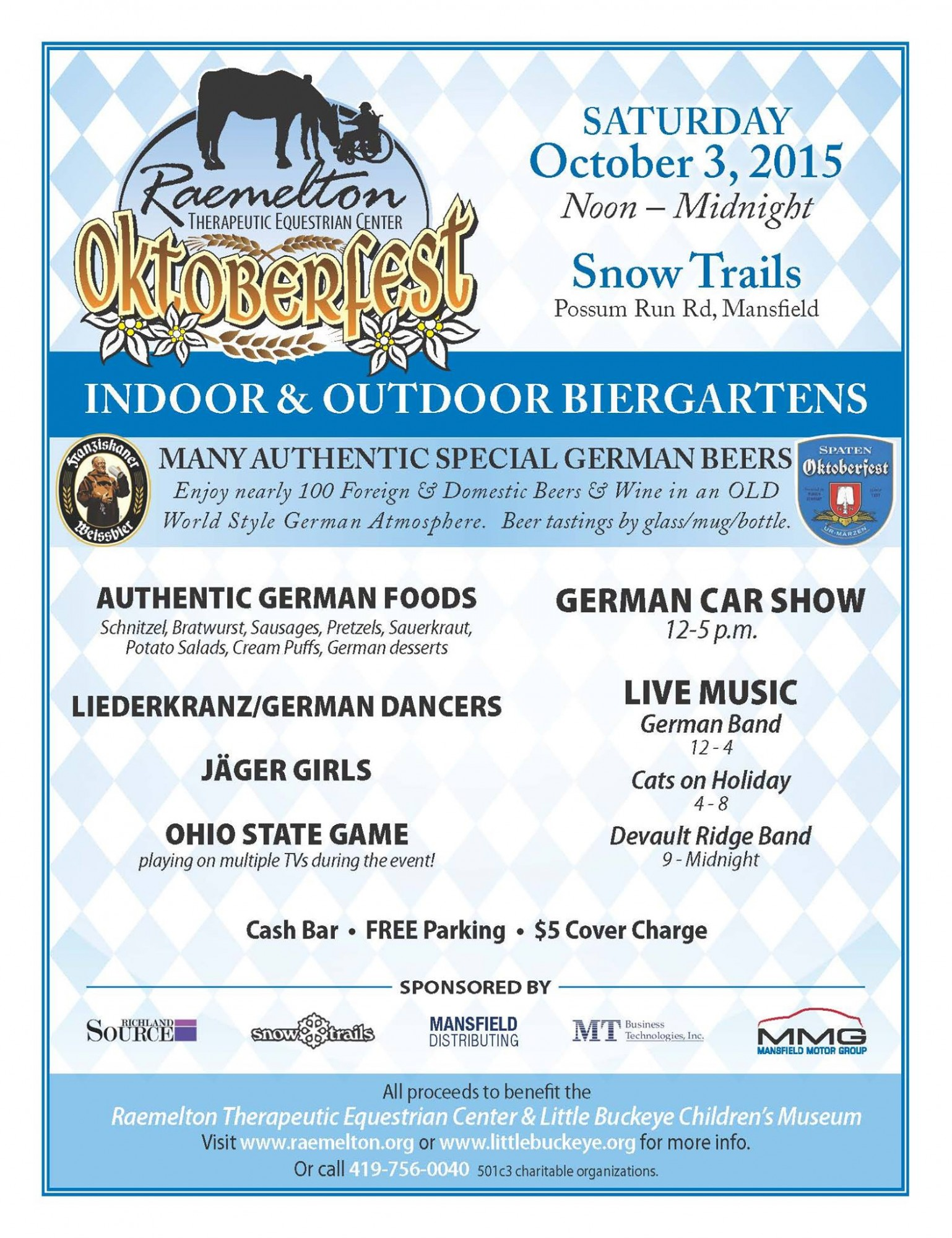 Raemelton Therapeutic Equestrian Center Oktoberfest at Snow Trails