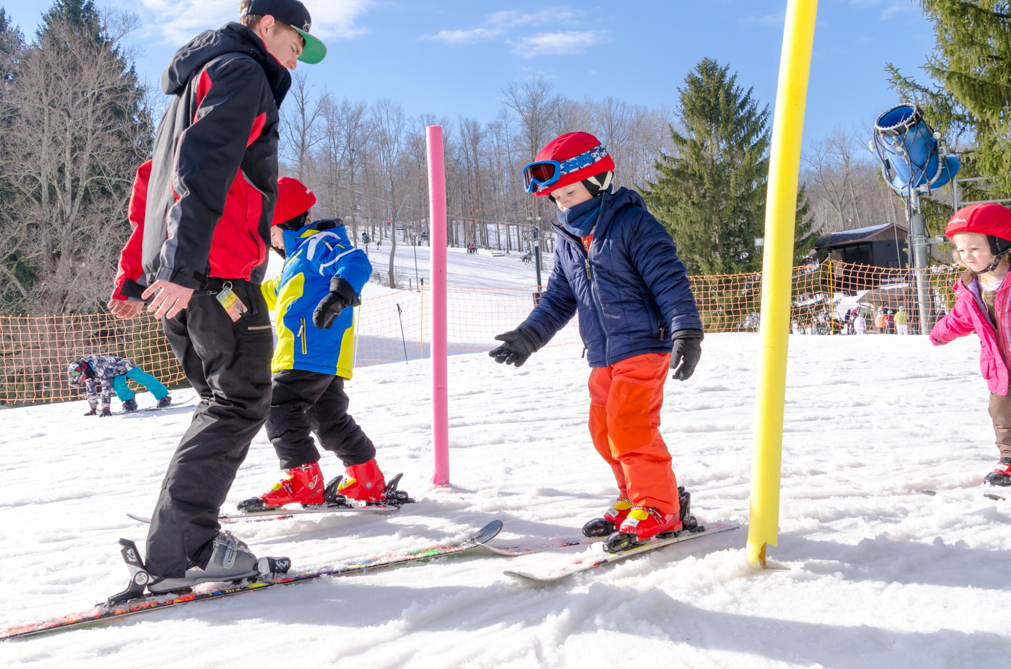 Children's Program includes on-snow skiing instruction
