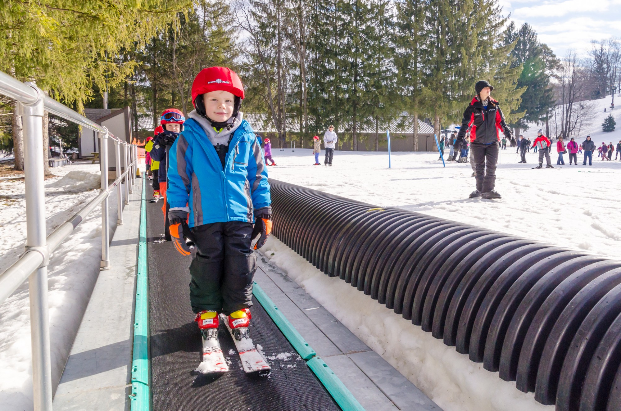 Children's Programs at Snow Trails include on-snow instruction in the most user friendly Beginners Area