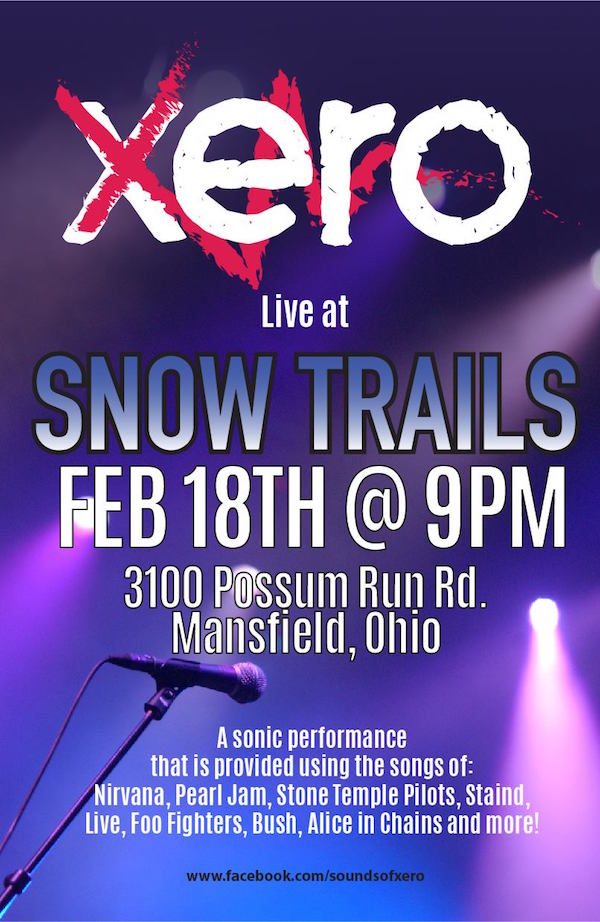 Band Xero at Snow Trails Saturday, February 18th 2017