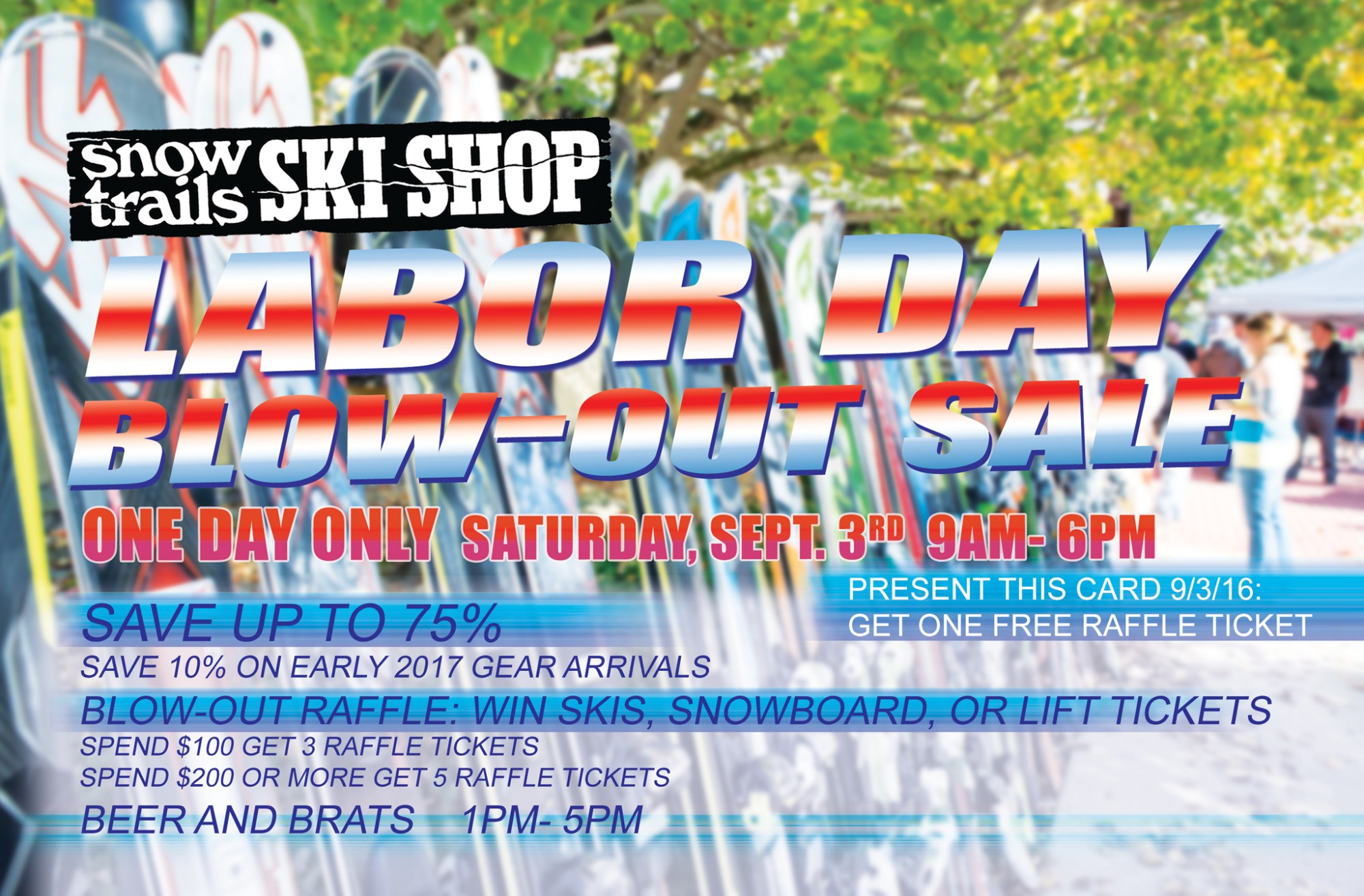 Snow Trails Ski Shop Labor Day Shop Sale