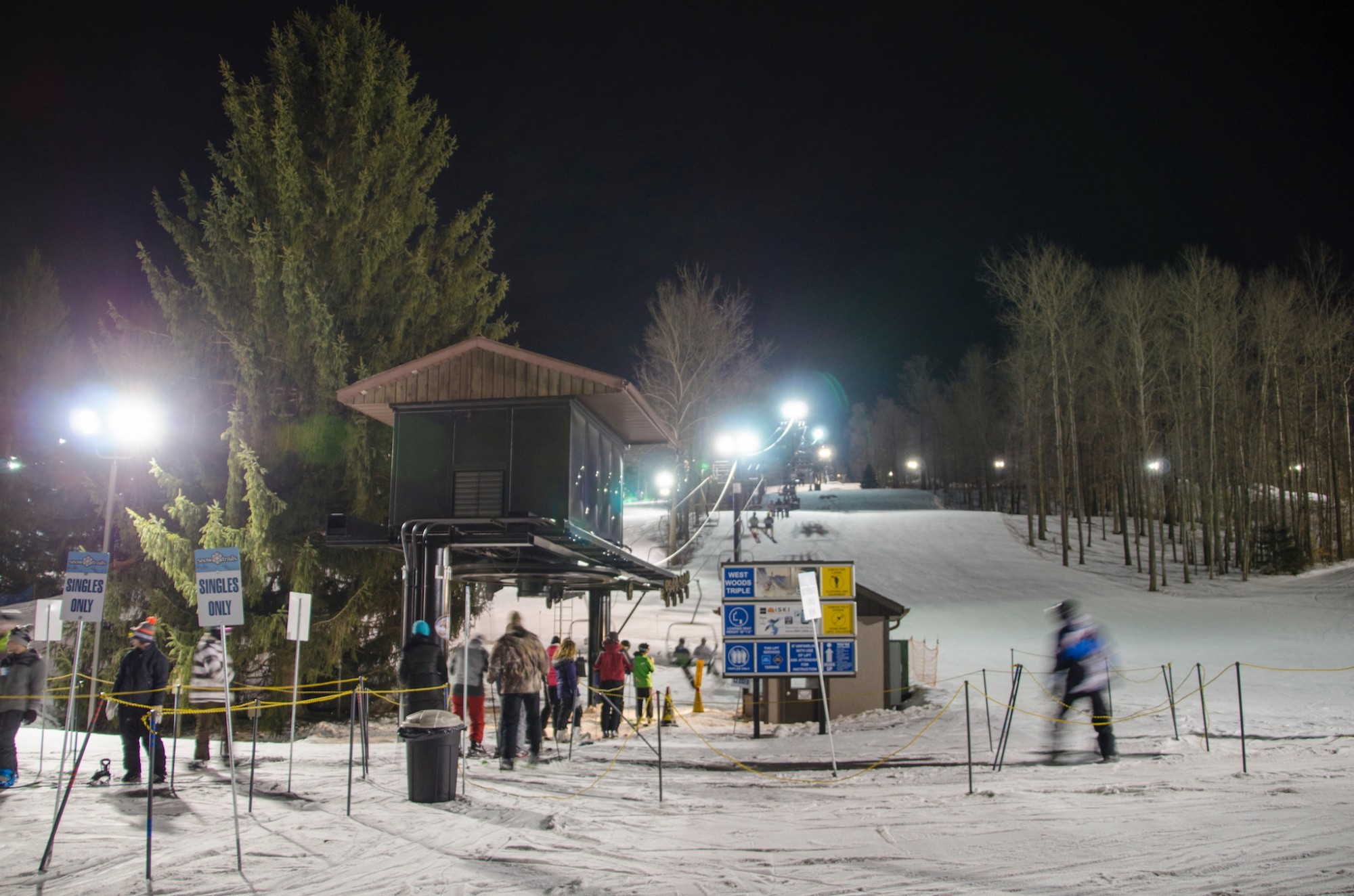 Late Night skiing at Snow Trails