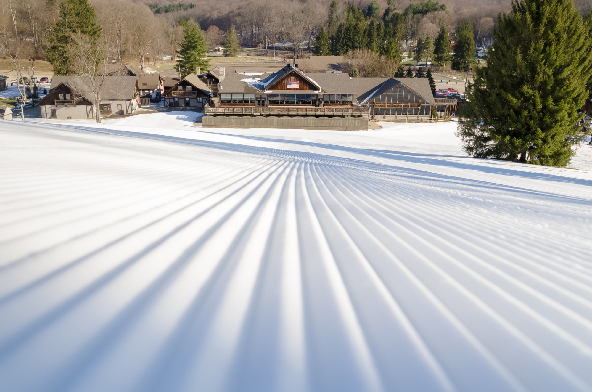 Snow Trails Ski Lodge at the based of our Mt. Mansfield Slope in Mansfield, Ohio