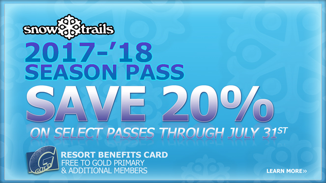 Save on select Snow Trails Season Passes