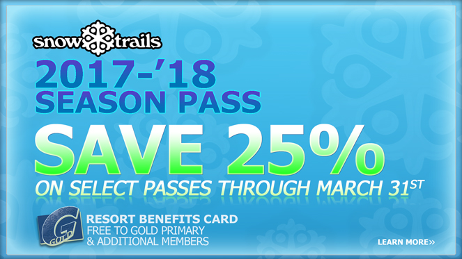 Season Pass Save 25% thru March 31st