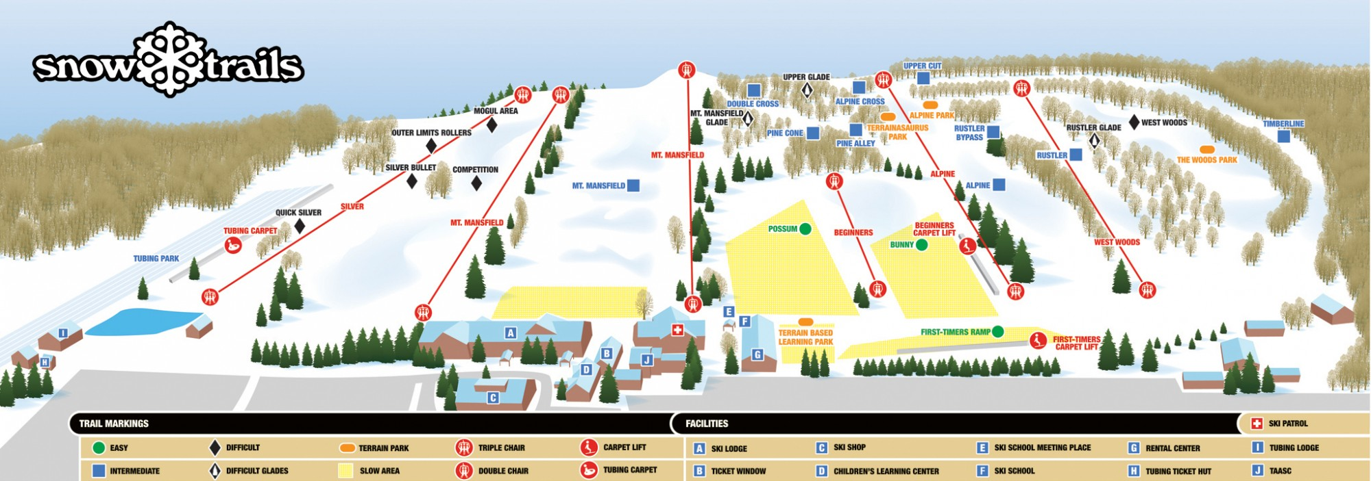 Snow Trails Map 2016-17