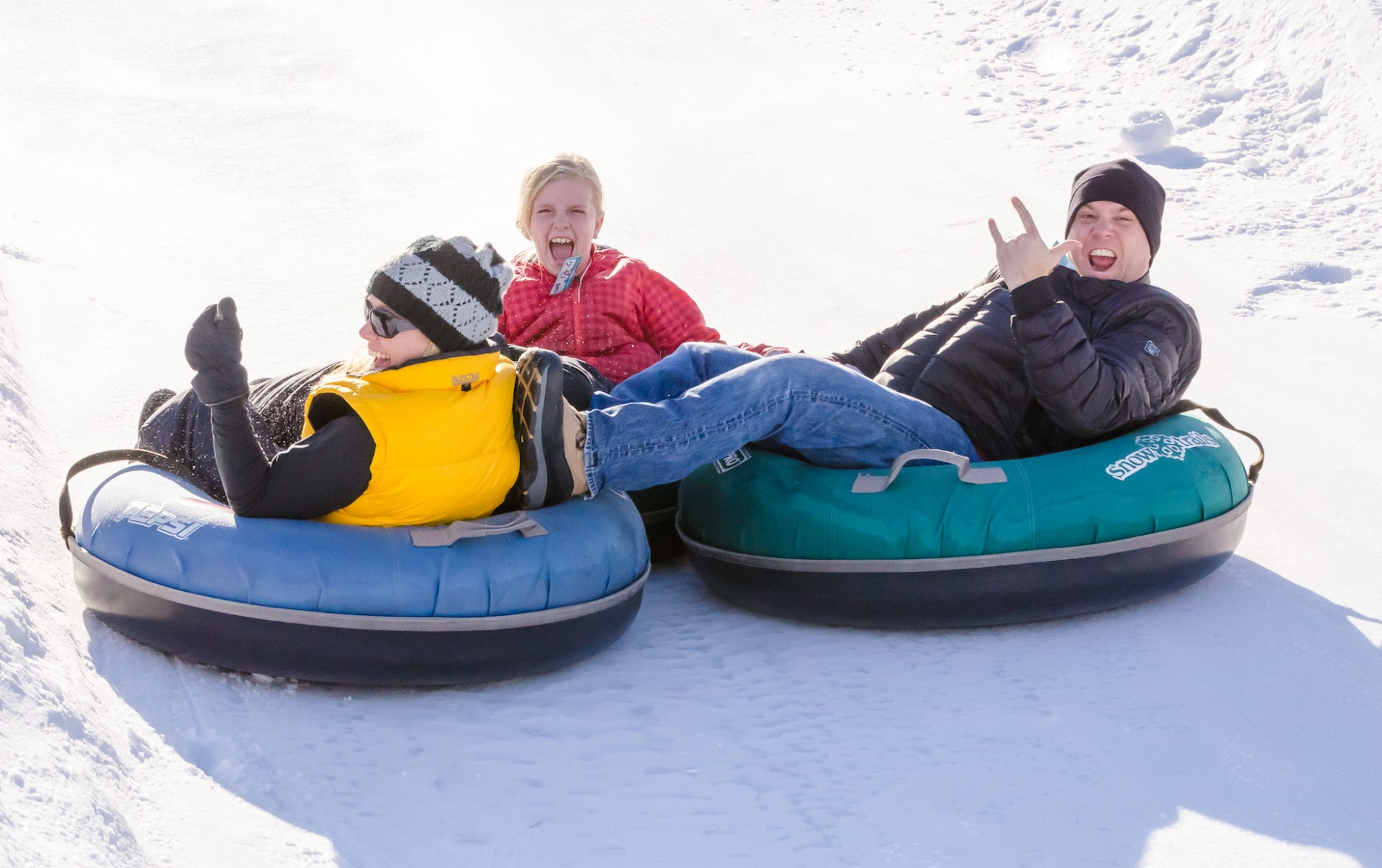 Snow Tubing Vertical Descent Tubing Park at Snow Trails