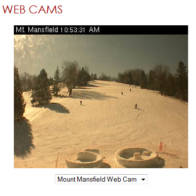Snow Trails Mt. Mansfield Web Cam