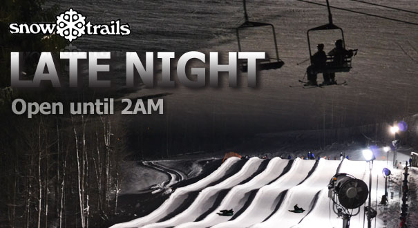 Late Night at Snow Trails