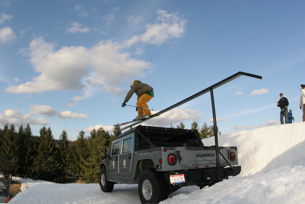 Snow Trails Big Air Competition with Hummer H1 Rail!