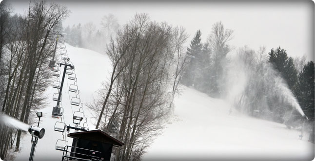Snowmaking at Snow Trails in Mansfield, OH