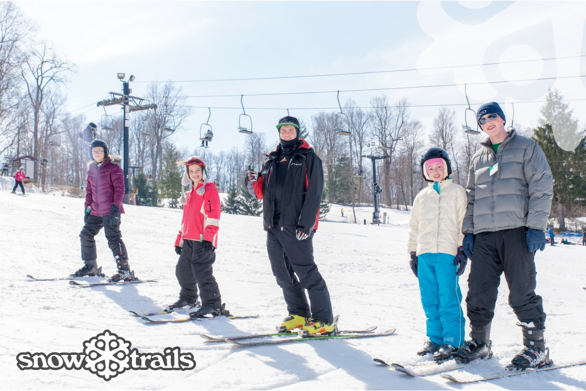Group Ski Lesson at Snow Trails in Mansfield, Ohio