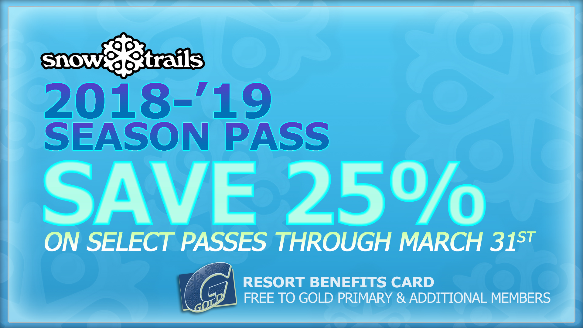 Season Passes: Save 25% Thru March 31st