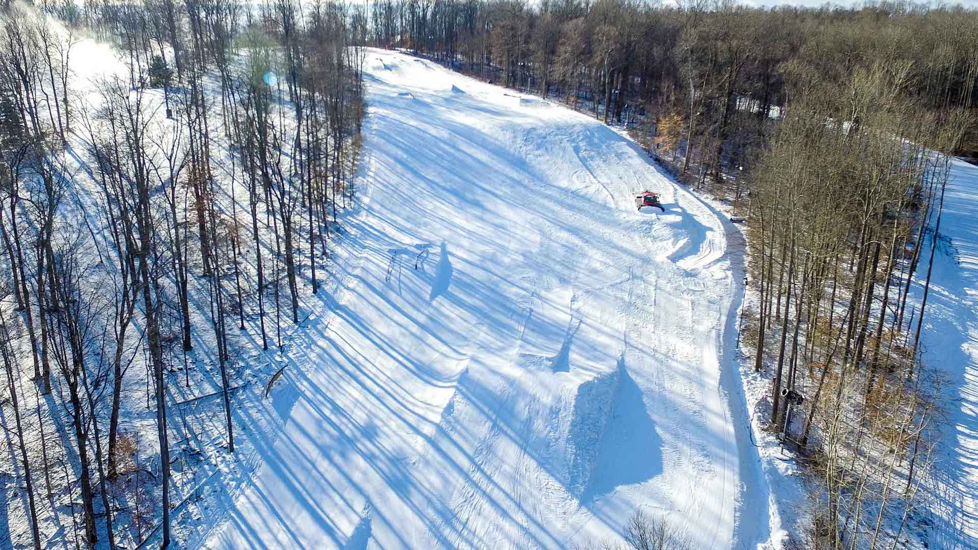 The Woods Terrain Park Build View